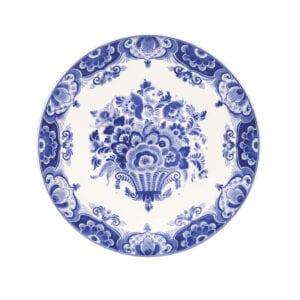 Plate flower basket