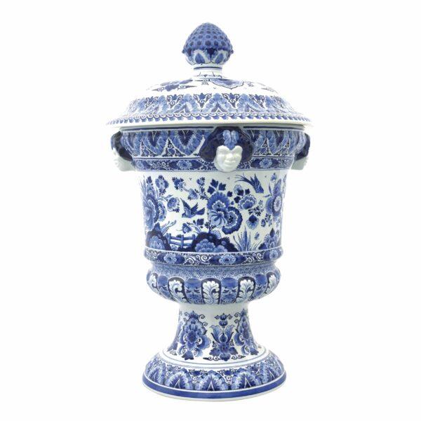 Satyr vase flower/bird