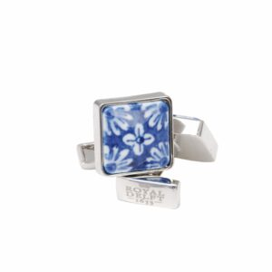 Cufflinks square flower