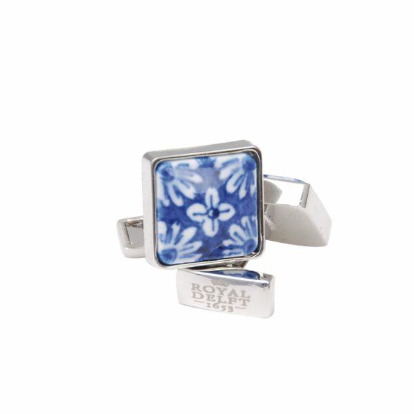 Cufflinks square flower