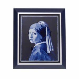 Tilepainting Vermeer Girl with pearl earring