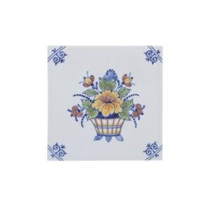Tile flower basket