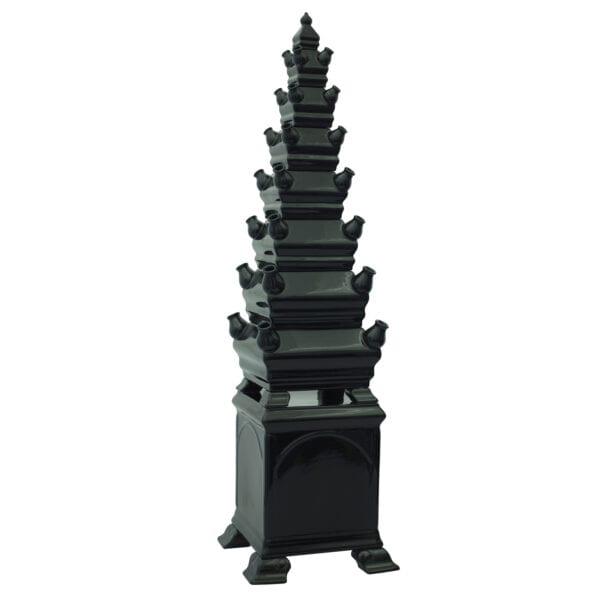 Tulip vase pyramid black