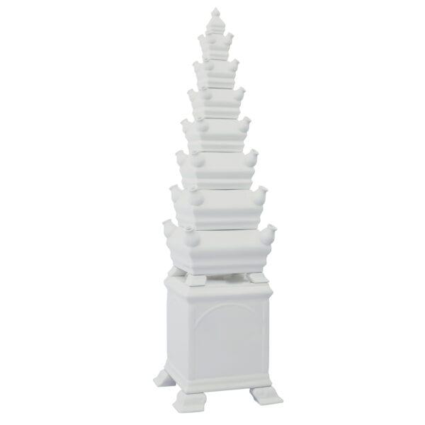 Tulip vase pyramid white